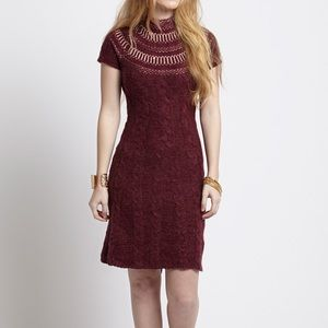 Free People Nordic Nights Cable Knit Sweater Dress